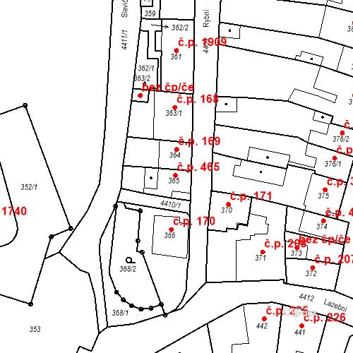 Katastrální mapa Stavební objekt Chotěboř 465, Chotěboř