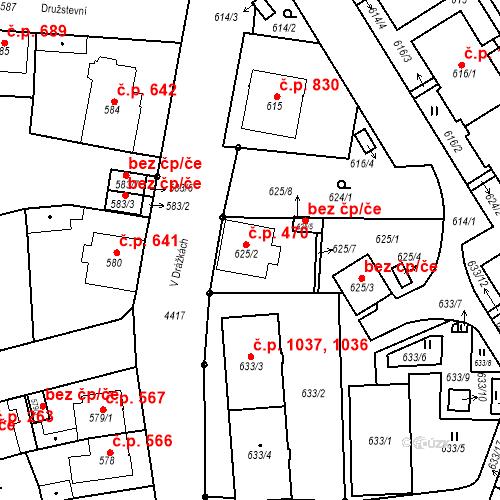 Katastrální mapa Stavební objekt Chotěboř 470, Chotěboř