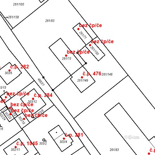 Katastrální mapa Stavební objekt Chotěboř 476, Chotěboř