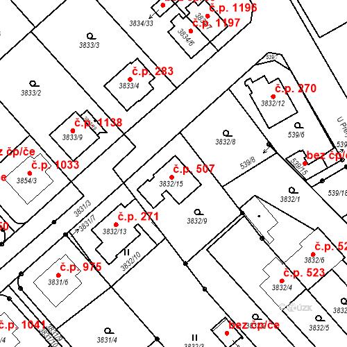 Katastrální mapa Stavební objekt Chotěboř 507, Chotěboř