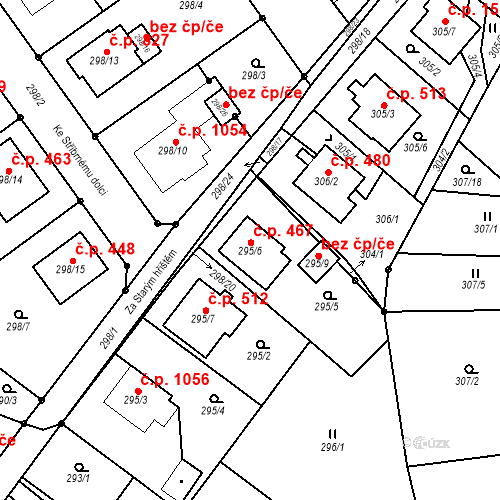 Katastrální mapa Stavební objekt Chotěboř 467, Chotěboř