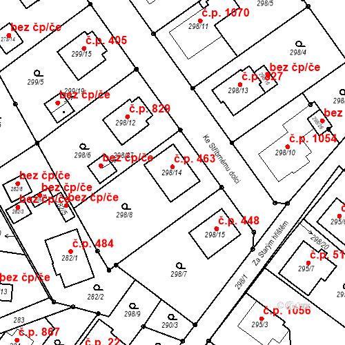 Katastrální mapa Stavební objekt Chotěboř 463, Chotěboř