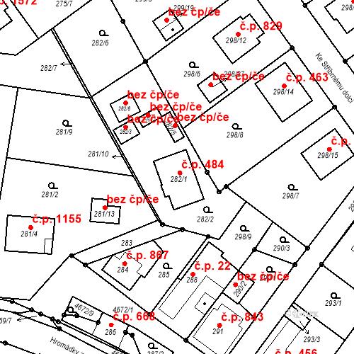Katastrální mapa Stavební objekt Chotěboř 484, Chotěboř