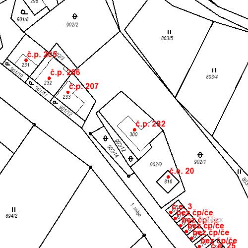 Katastrální mapa Stavební objekt Luka nad Jihlavou 282, Luka nad Jihlavou