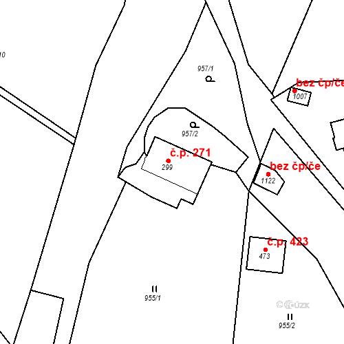 Katastrální mapa Stavební objekt Luka nad Jihlavou 271, Luka nad Jihlavou