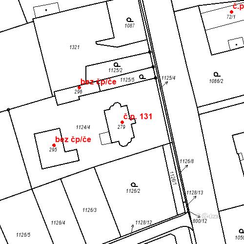 Katastrální mapa Stavební objekt Litohoř 131, Litohoř