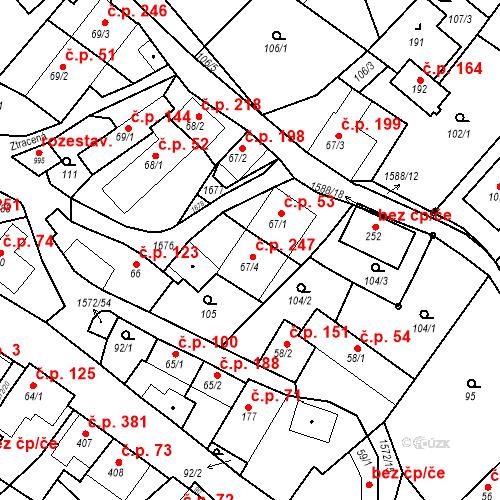 Katastrální mapa Stavební objekt Luka nad Jihlavou 247, Luka nad Jihlavou