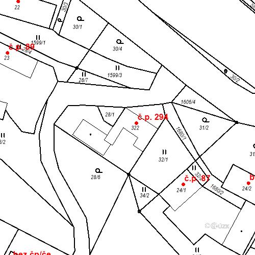 Katastrální mapa Stavební objekt Luka nad Jihlavou 294, Luka nad Jihlavou