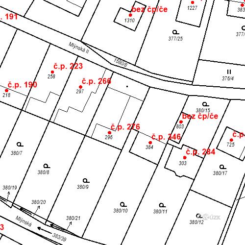 Katastrální mapa Stavební objekt Luka nad Jihlavou 276, Luka nad Jihlavou