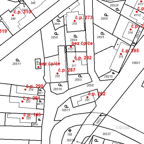 Katastrální mapa Stavební objekt Luka nad Jihlavou 292, Luka nad Jihlavou