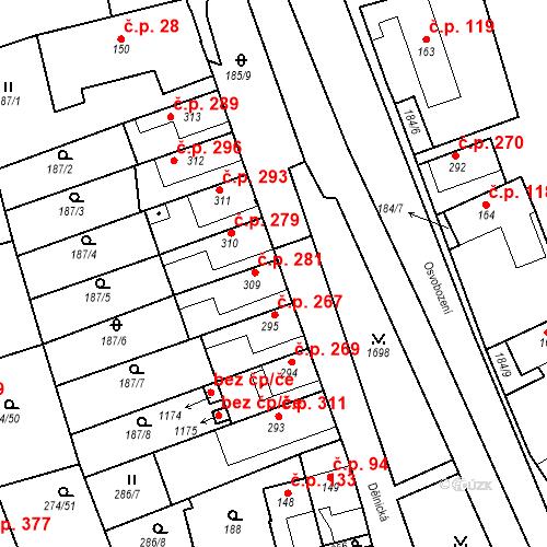 Katastrální mapa Stavební objekt Luka nad Jihlavou 281, Luka nad Jihlavou