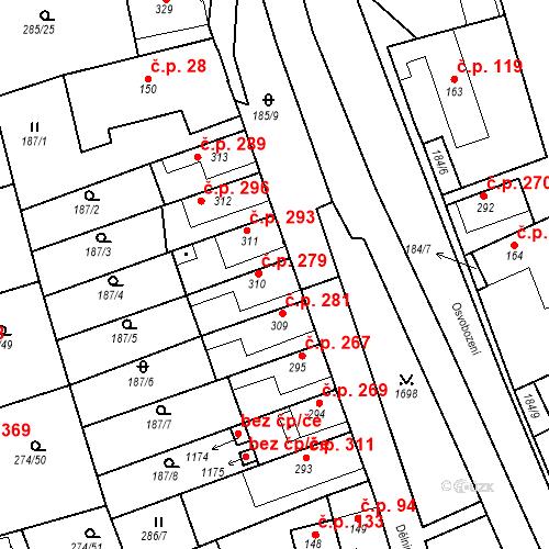 Katastrální mapa Stavební objekt Luka nad Jihlavou 279, Luka nad Jihlavou