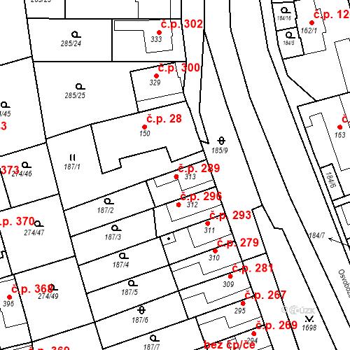 Katastrální mapa Stavební objekt Luka nad Jihlavou 289, Luka nad Jihlavou