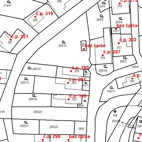Katastrální mapa Stavební objekt Luka nad Jihlavou 290, Luka nad Jihlavou