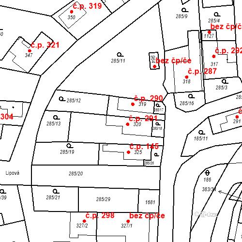 Katastrální mapa Stavební objekt Luka nad Jihlavou 291, Luka nad Jihlavou