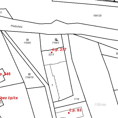 Katastrální mapa Stavební objekt Luka nad Jihlavou 277, Luka nad Jihlavou