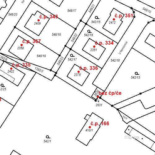 Katastrální mapa Stavební objekt Chlumec nad Cidlinou III 336, Chlumec nad Cidlinou