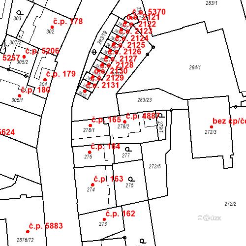 Katastrální mapa Stavební objekt Jihlava 4887, Jihlava