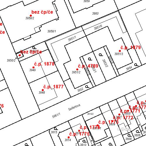 Katastrální mapa Stavební objekt Jihlava 4789, Jihlava