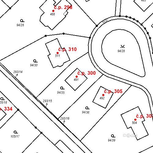 Katastrální mapa Stavební objekt Staré Hory 300, Jihlava