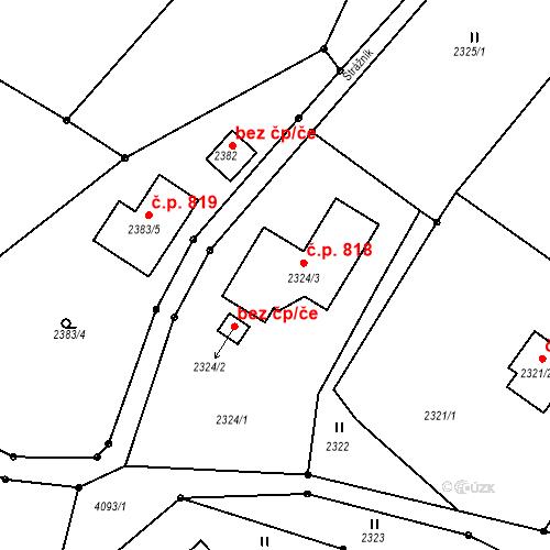 Katastrální mapa Stavební objekt Semily 818, Semily