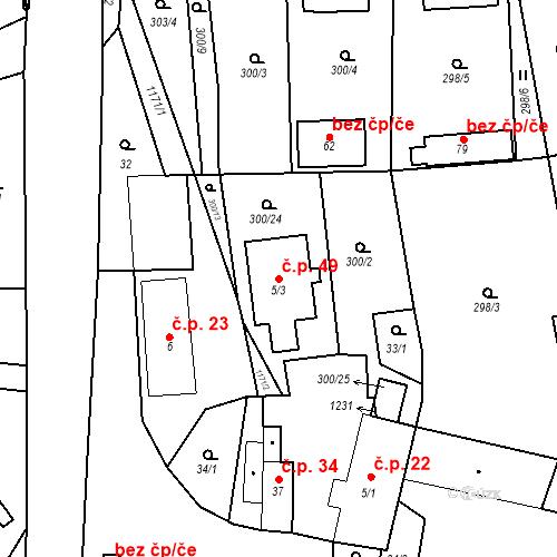 Katastrální mapa Stavební objekt Suchá 49, Suchá