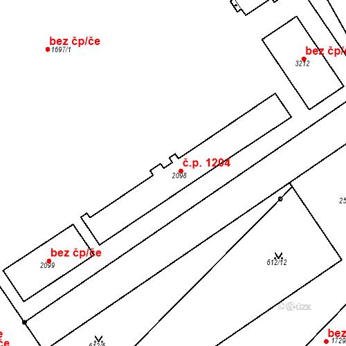 Katastrální mapa Stavební objekt Čáslav-Nové Město 1204, Čáslav