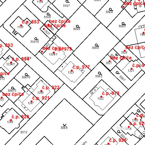 Katastrální mapa Stavební objekt Čáslav-Nové Město 977, Čáslav