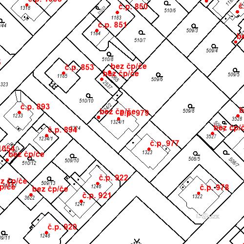Katastrální mapa Stavební objekt Čáslav-Nové Město 979, Čáslav