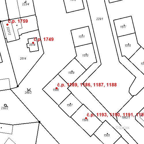 Katastrální mapa Stavební objekt Čáslav-Nové Město 1188, Čáslav