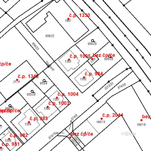Katastrální mapa Stavební objekt Čáslav-Nové Město 984, Čáslav
