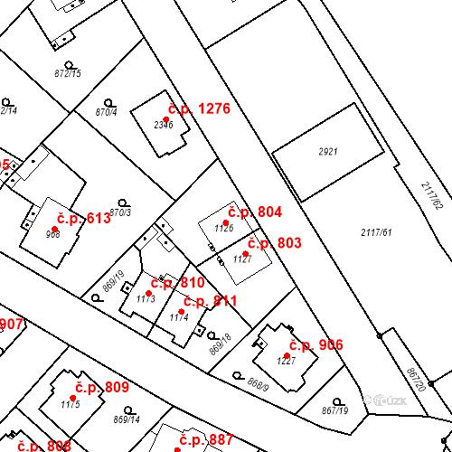 Katastrální mapa Stavební objekt Čáslav-Nové Město 804, Čáslav