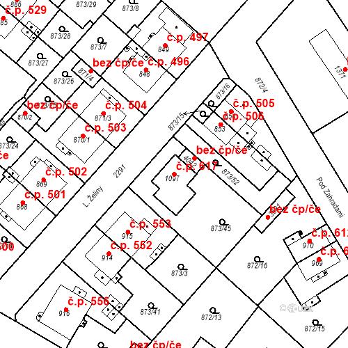 Katastrální mapa Stavební objekt Čáslav-Nové Město 617, Čáslav