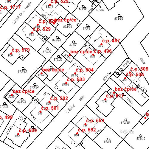 Katastrální mapa Stavební objekt Čáslav-Nové Město 504, Čáslav