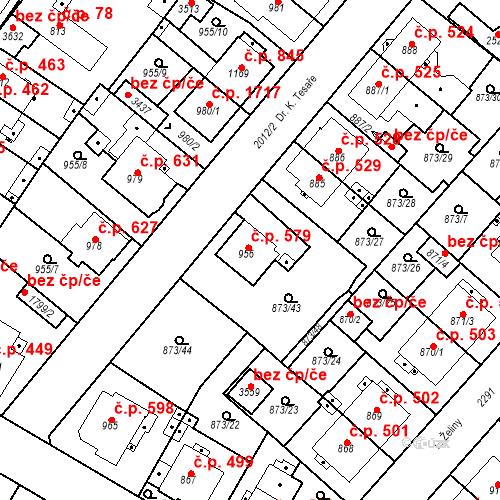 Katastrální mapa Stavební objekt Čáslav-Nové Město 579, Čáslav