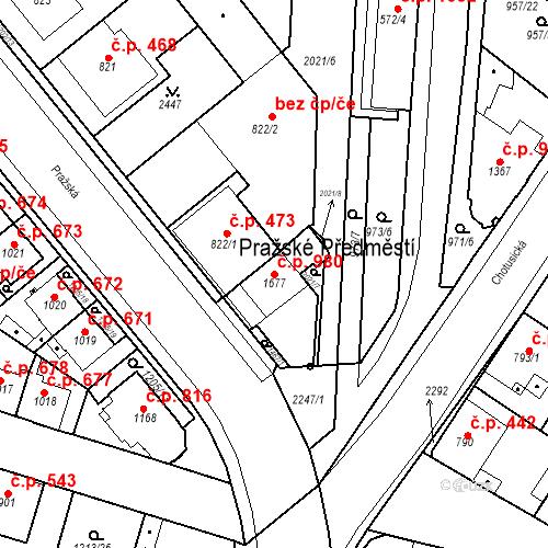 Katastrální mapa Stavební objekt Čáslav-Nové Město 980, Čáslav