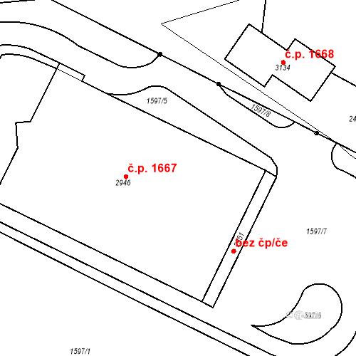 Katastrální mapa Stavební objekt Čáslav-Nové Město 1667, Čáslav