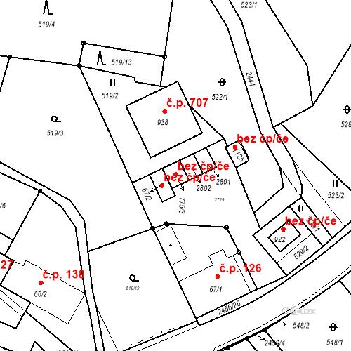 Katastrální mapa Stavební objekt Lučany nad Nisou 248, Lučany nad Nisou