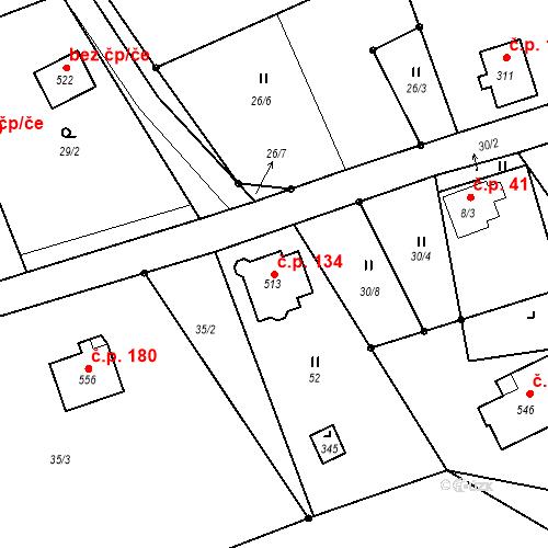 Katastrální mapa Stavební objekt Maršovice 134, Maršovice