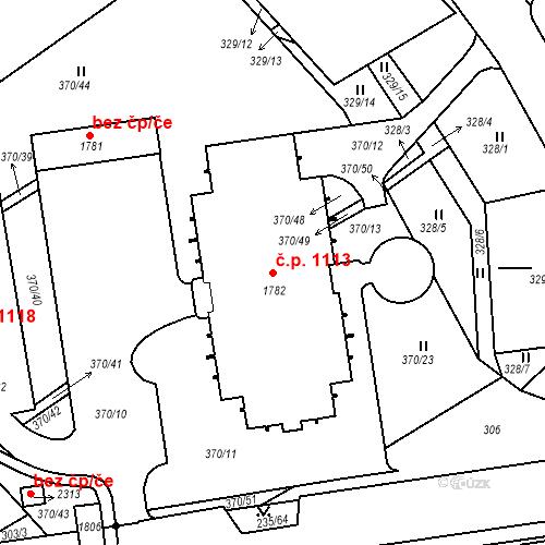 Katastrální mapa Stavební objekt Světlá nad Sázavou 1113, Světlá nad Sázavou