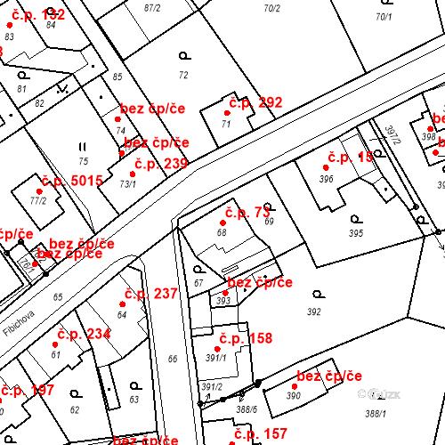 Katastrální mapa Stavební objekt Vrkoslavice 73, Jablonec nad Nisou