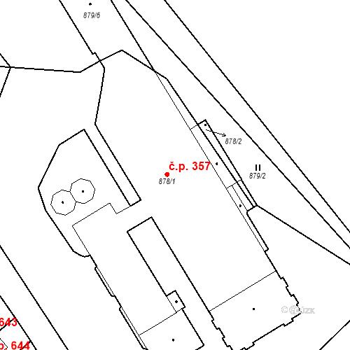 Katastrální mapa Stavební objekt Rychnov u Jablonce nad Nisou 357, Rychnov u Jablonce nad Nisou