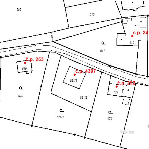 Katastrální mapa Stavební objekt Proseč nad Nisou 4397, Jablonec nad Nisou