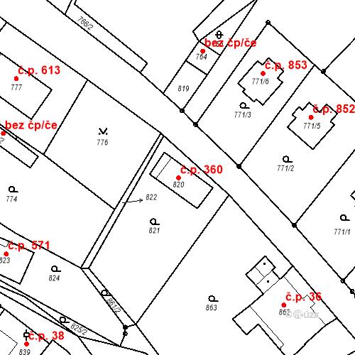 Katastrální mapa Stavební objekt Rychnov u Jablonce nad Nisou 360, Rychnov u Jablonce nad Nisou