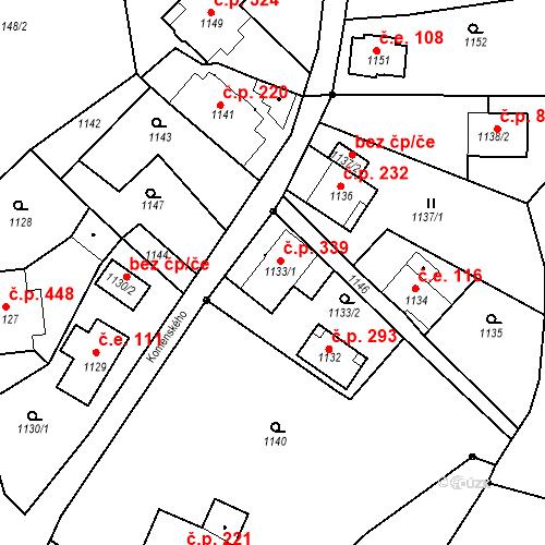 Katastrální mapa Stavební objekt Rychnov u Jablonce nad Nisou 339, Rychnov u Jablonce nad Nisou