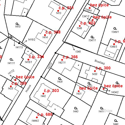 Katastrální mapa Stavební objekt Rychnov u Jablonce nad Nisou 366, Rychnov u Jablonce nad Nisou