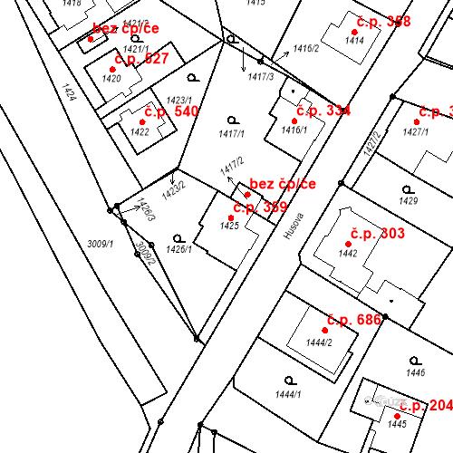 Katastrální mapa Stavební objekt Rychnov u Jablonce nad Nisou 359, Rychnov u Jablonce nad Nisou