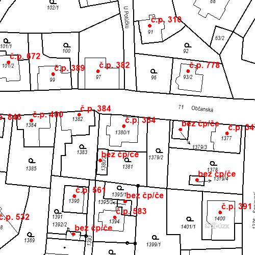 Katastrální mapa Stavební objekt Rychnov u Jablonce nad Nisou 354, Rychnov u Jablonce nad Nisou
