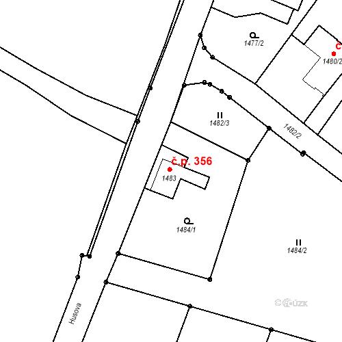 Katastrální mapa Stavební objekt Rychnov u Jablonce nad Nisou 356, Rychnov u Jablonce nad Nisou