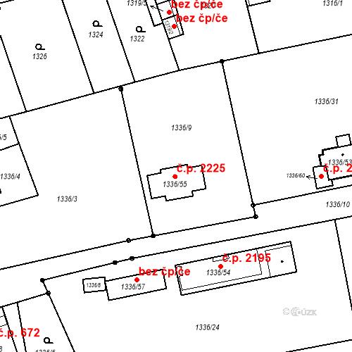 Katastrální mapa Stavební objekt Turnov 2225, Turnov